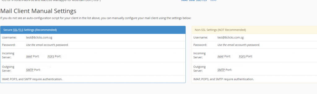 webmail logins and web configure