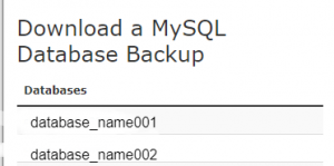 cpanel-backup-database
